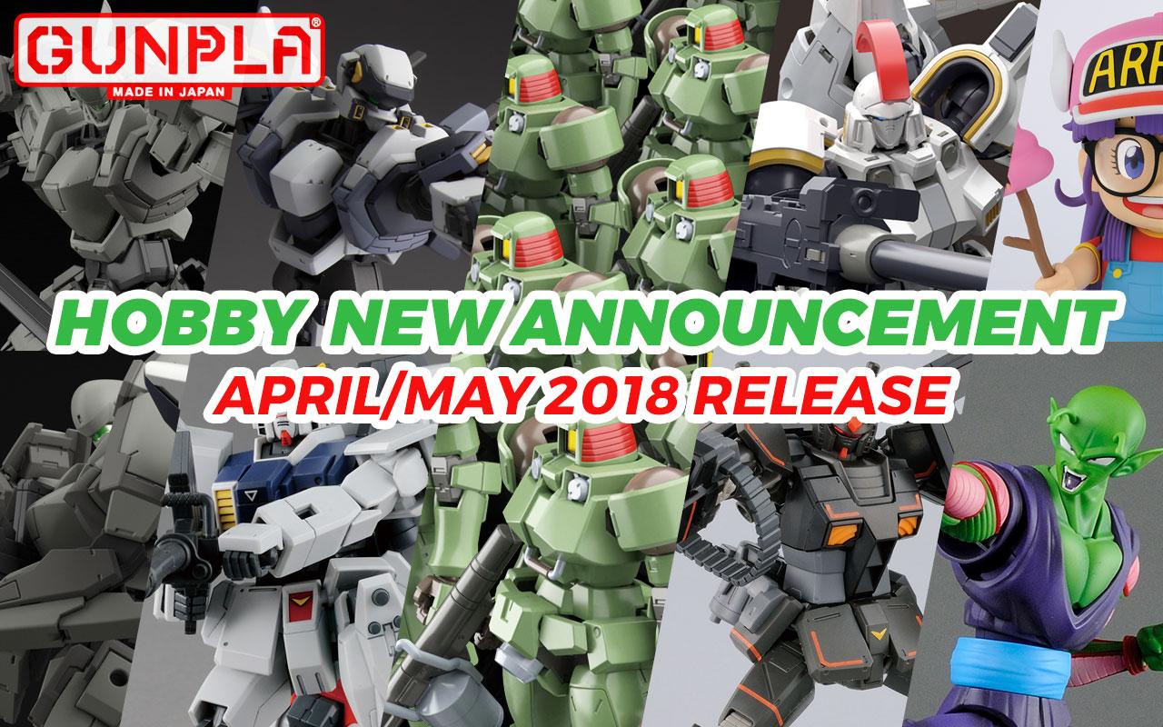Bandai Hobby April & May New Announcements