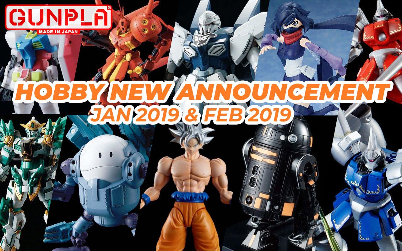 Hobby Items January, February 2019 New Announcement