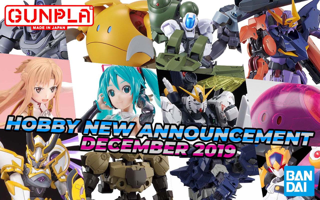 BANDAI Hobby September 2019 Announcement: December ~ January 2019
