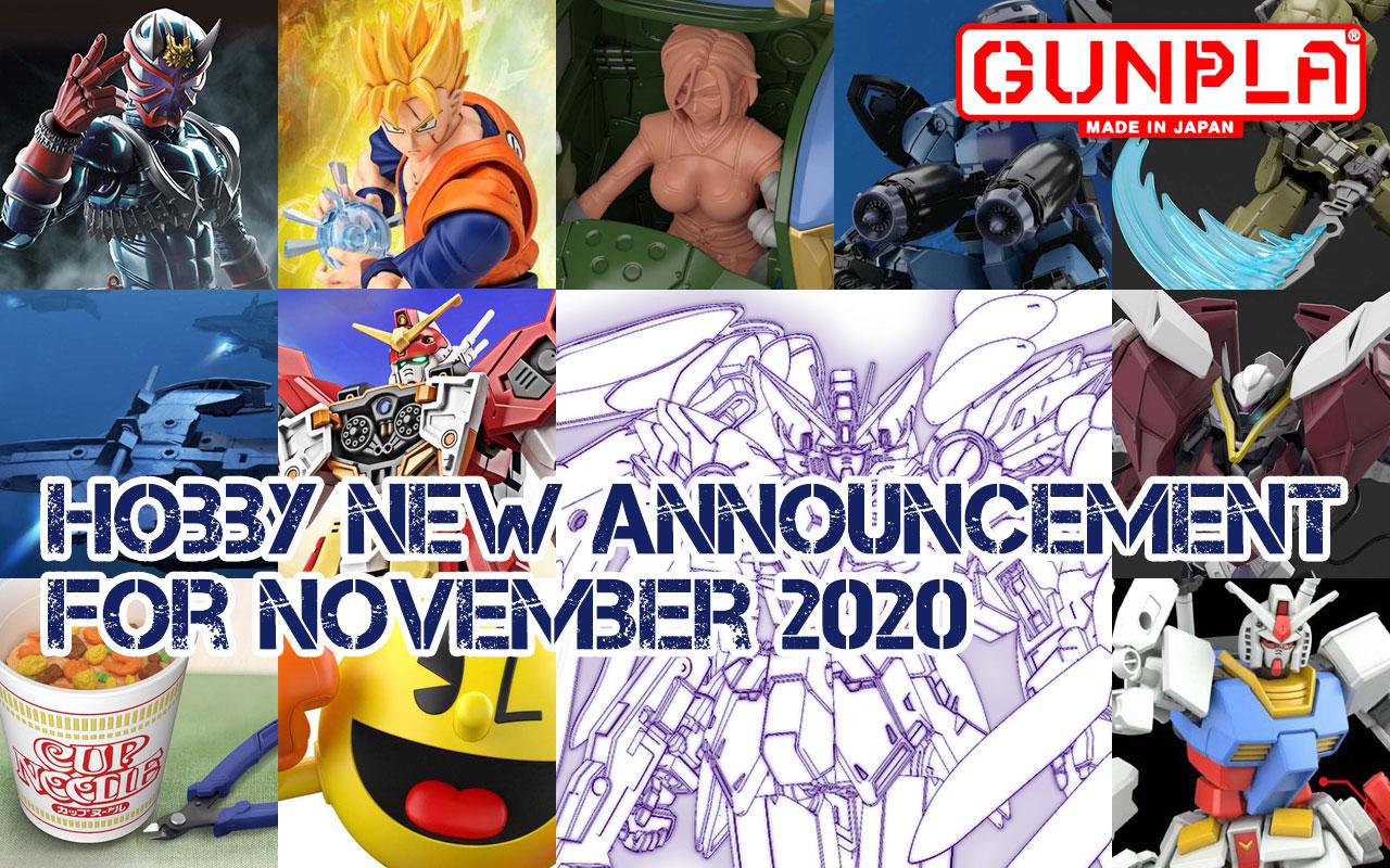 BANDAI Hobby June 2020 Announcement: November ~ December 2020 Arrivals