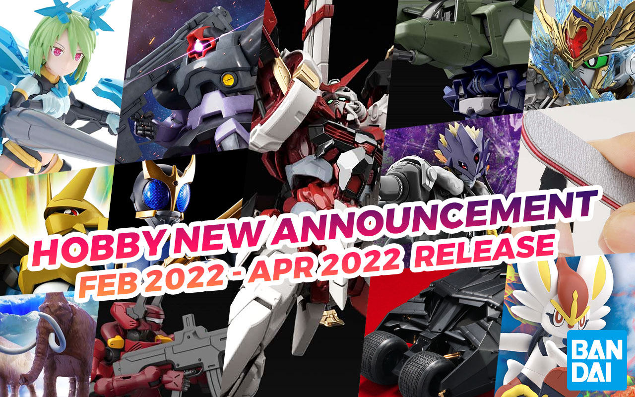 Bandai Hobby October 2021 Announcements (February-April Release)