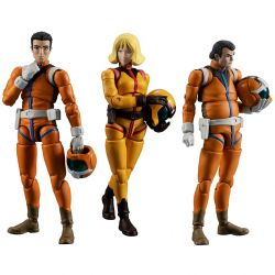 G.M.G.Mobile Suit Gundam Earth Federation Force 04, 05, 06 Sayla Mass (set of 3 with gift)