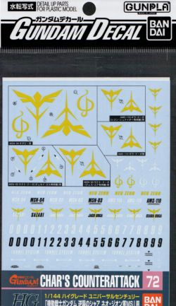 GD-72 HGUC Char's Counterattack Series Zeon Decal