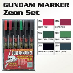 GMS108 Gundam Marker Zeon Set (set of 6)