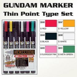 GMS110 Gundam Marker Thin Point Set (set of 6)