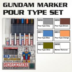 GMS122 Gundam Marker Pour Type Set (Set of 6)
