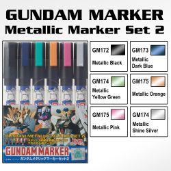 GMS125 Gundam Marker Metallic Set 2 (Set of 6)