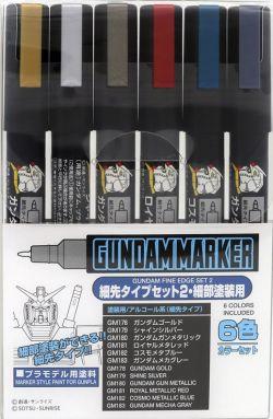 GMS126 Gundam Marker Fine Edge Set 2 (Set of 6)