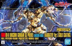 HGUC RX-0 Unicorn Gundam 03 Phenex (Unicorn Mode Narrative Ver.) Gold Coating