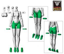 Megami Device KP568 MSG 02 Bottoms Set (Skin Color A)