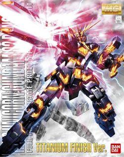 MG RX-0 Unicorn Gundam 02 Banshee Titanium Finish