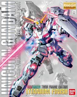 MG RX-0 Unicorn Gundam (Red & Green Frame) Titanium Finish