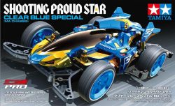 Mini 4WD Shooting Proud Star Clear Blue Special (MA Chassis)