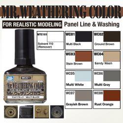 Mr. Weathering Color for Panel Line & Washing