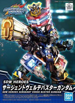 SD Gundam World Heroes 03 Sergeant Verde Buster Gundam