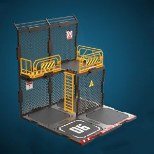 1/24 Diorama Building Set SIB06 Iron Net Base-B