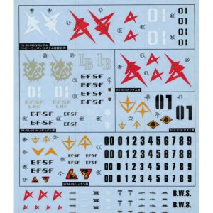 GD-71 HGUC Char's Counterattack Series EFSF Decal