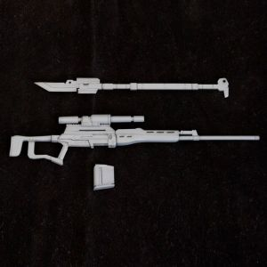 MSG Weapon Unit MW009R Long-handled Sword & Sniper Rifle