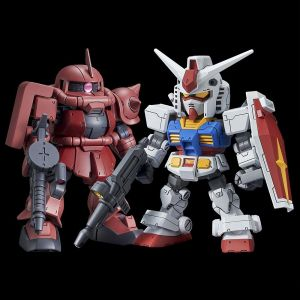 SD Cross Silhouette RX-78-2 Gundam & MS-06S Char's Zaku II