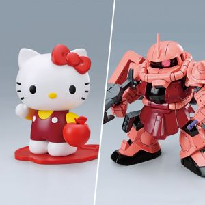 SD Gundam Cross Silhouette Zaku II Char Custom / Hello Kitty Set