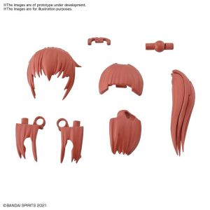 30MS Option Hairstyle Parts Vol.2 Ponytail Hair 2 [Red2]