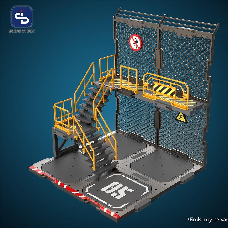 1/24 Diorama Building Set SIB05 Iron Net Base-A