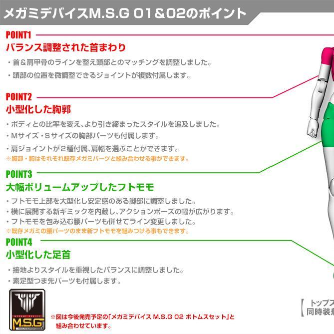 Megami Device KP596 MSG 01 Tops Set (Skin Color D)