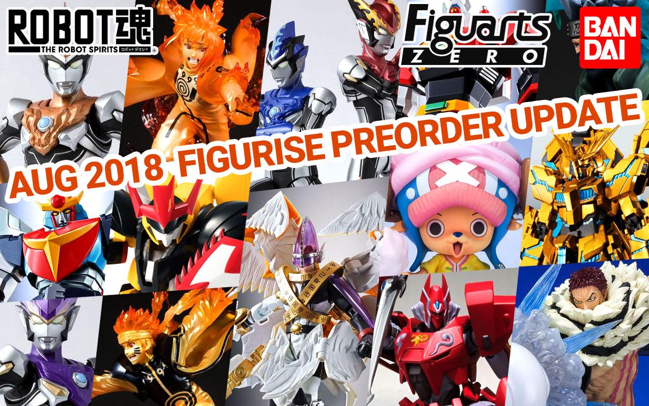 Bandai Tamashii Nations August 2018 Preorder Update!