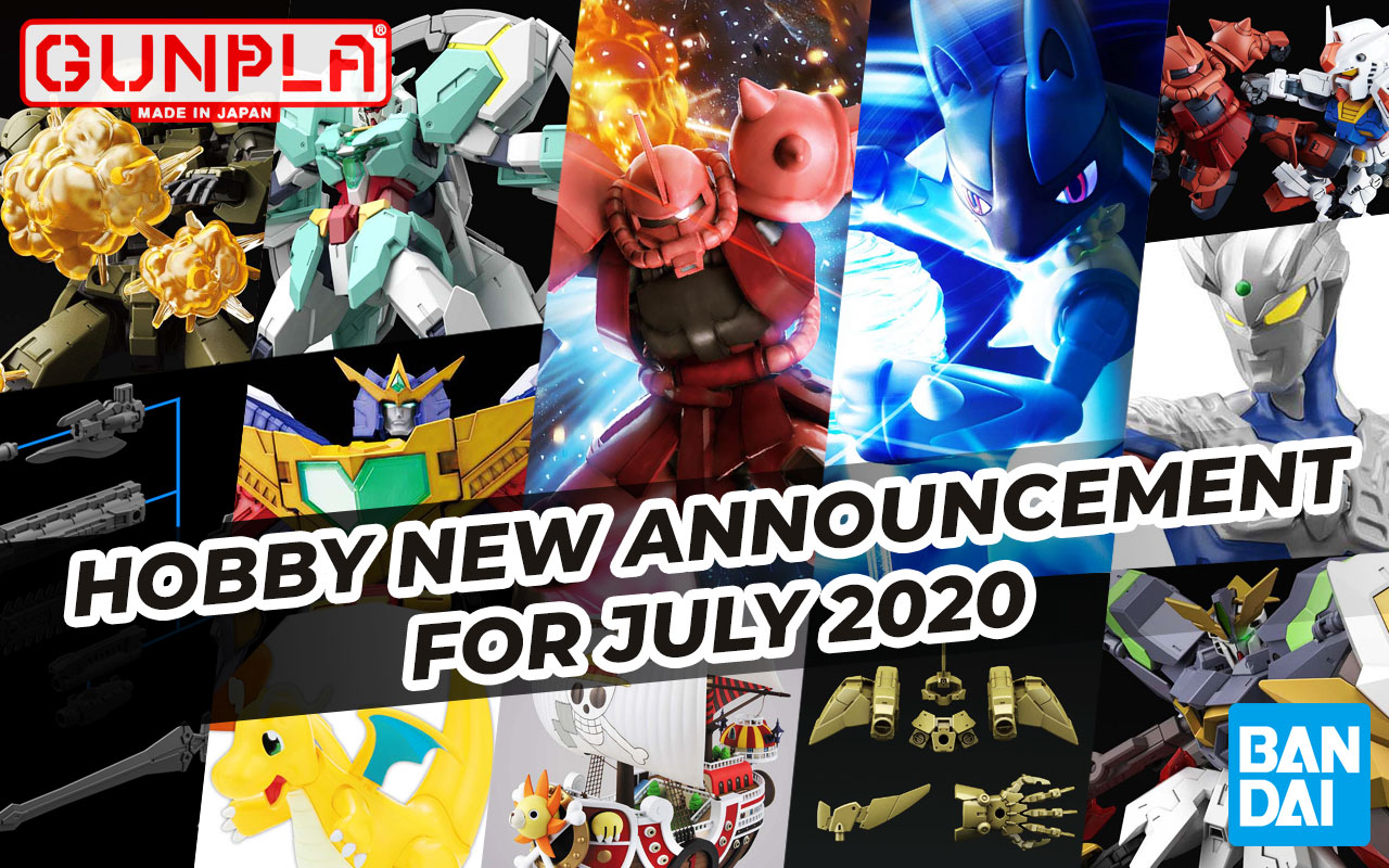 BANDAI Hobby March 2020 Announcement: July ~ August 2020 Arrivals