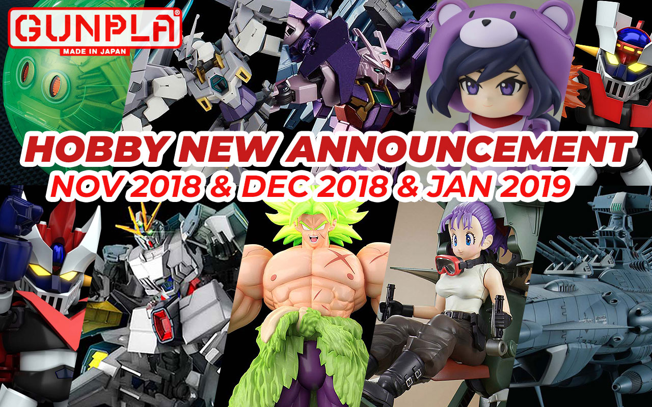 Hobby Items November 2018 ~ January 2019 New Announcement