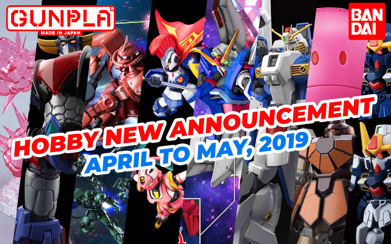 BANDAI Hobby Jan 2019 Announcement: April ~ May 2019