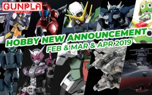 BANDAI Hobby Items February to April 2019 New Announcement
