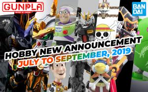 BANDAI Hobby April 2019 Announcement: July ~ September 2019