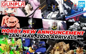 BANDAI Hobby October 2019 Announcement: January ~ March 2020 Arrivals