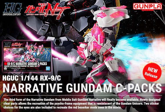 HGUC Narrative Gundam C Packs