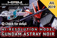 High-Resolution Model Gundam Astray Noir