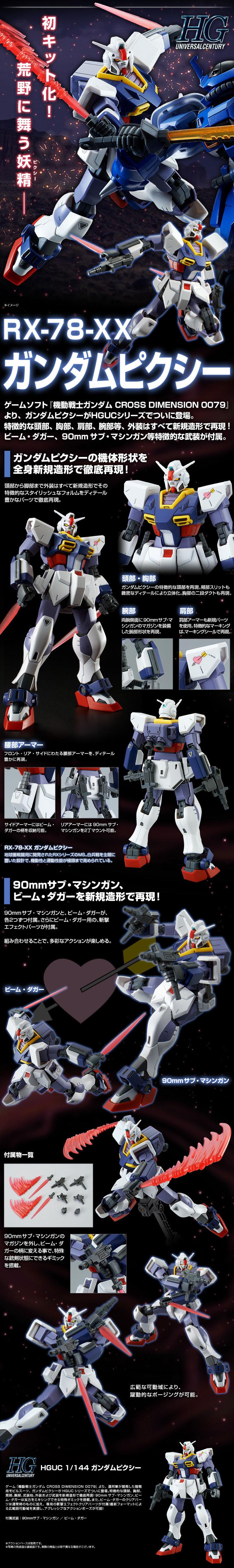 HGUC Gundam Pixie Details