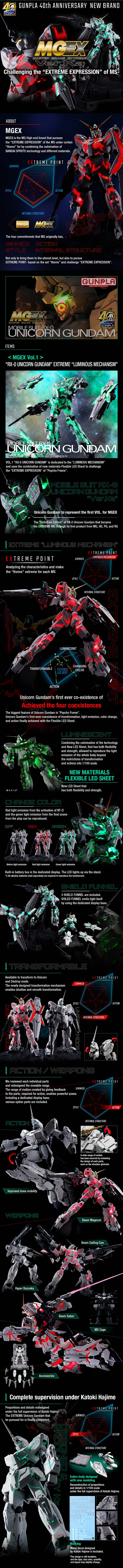 MGEX Unicorn Gundam Ver.Ka Detail
