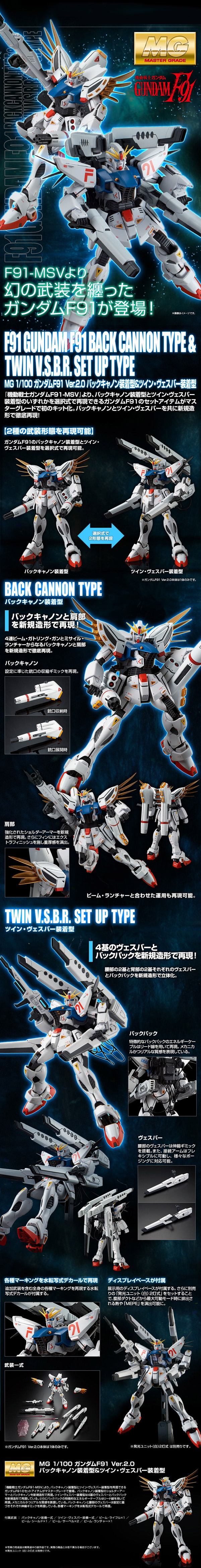 MG Gundam F91 Heavy Weapon Type Details