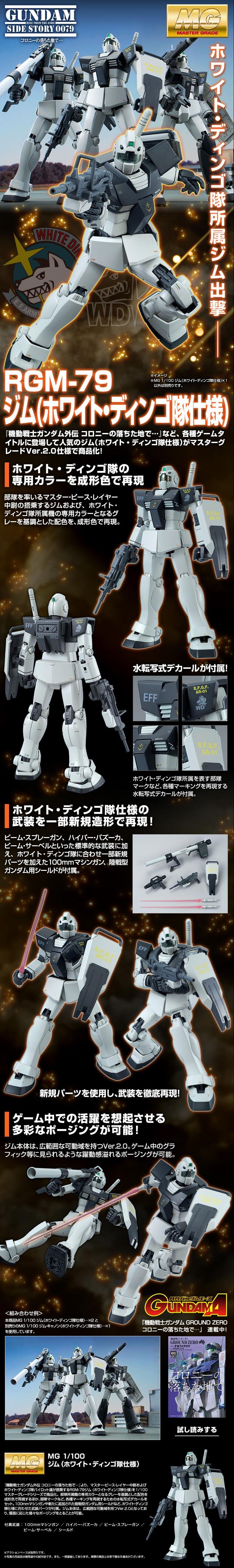 MG RGM-79 GM Ver 2.0 White DIngo Custom Details