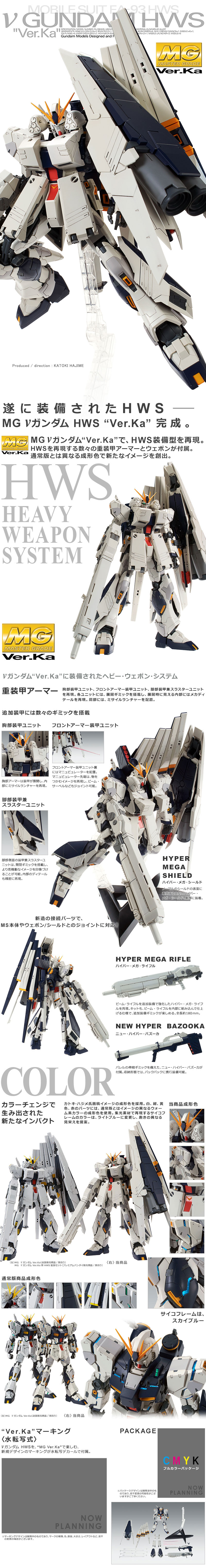 MG RX-93 Nu Gundam Ver.Ka Heavy Weapon System Details
