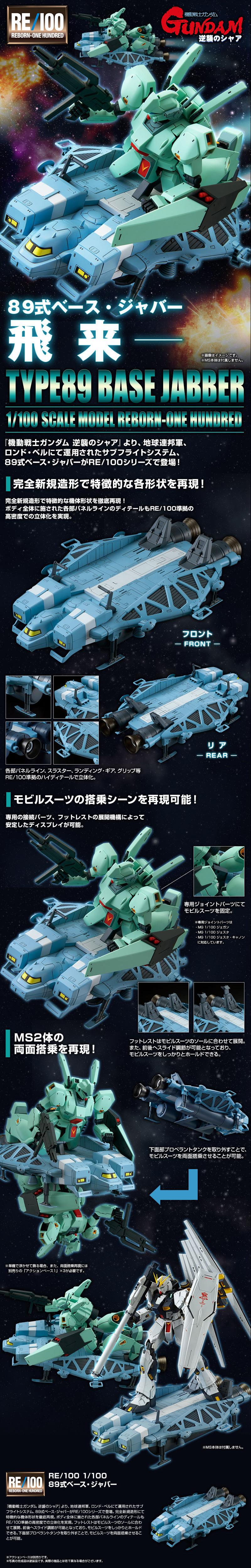 P-Bandai RE/100 Base Jabber Details