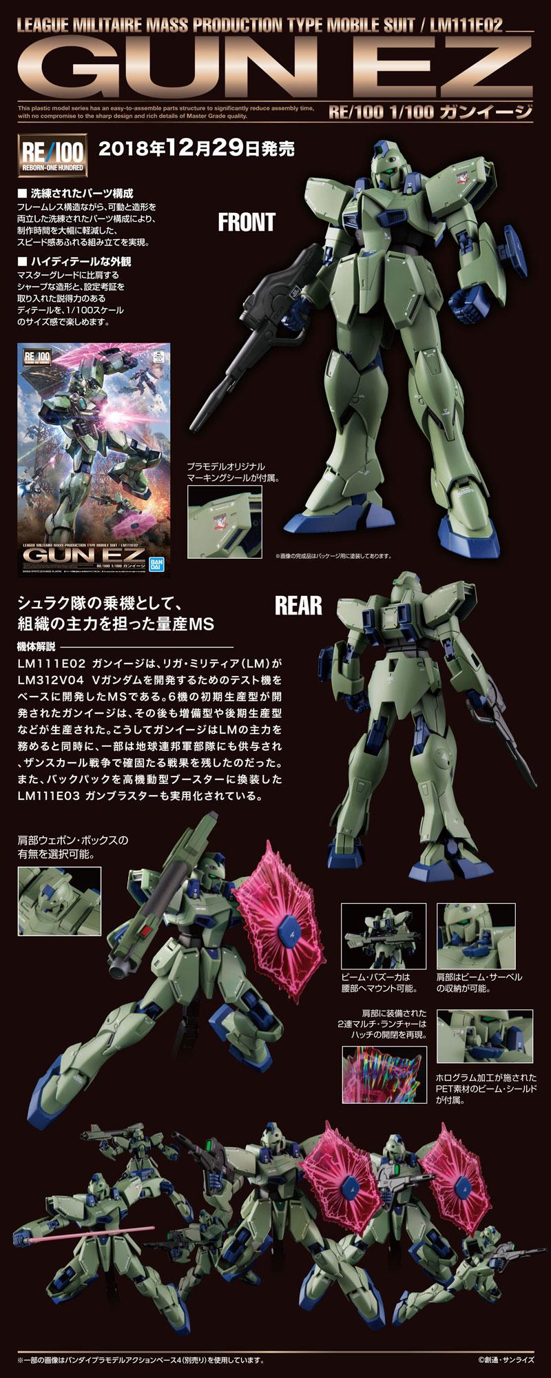 RE100 Gun-Ez Description