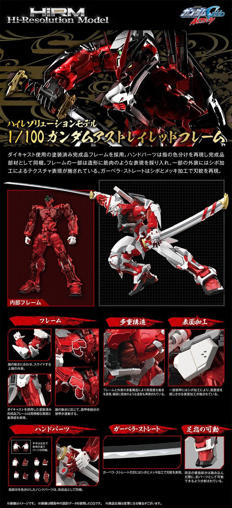 Hi-Resolution Model Gundam Astray Red Frame Details
