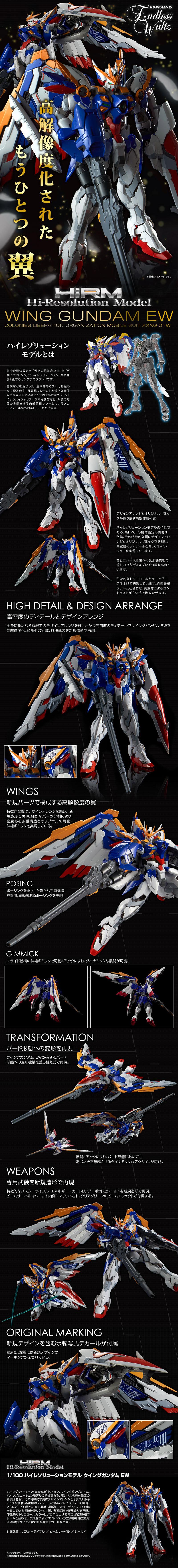 Hi-Resolution Model Wing Gundam EW Ver. Details