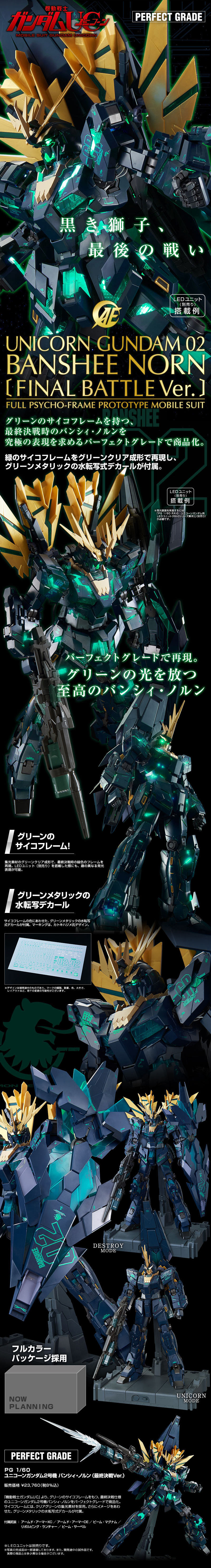 Unicorn Gundam 02 Banshee Norn Final Battle Ver.