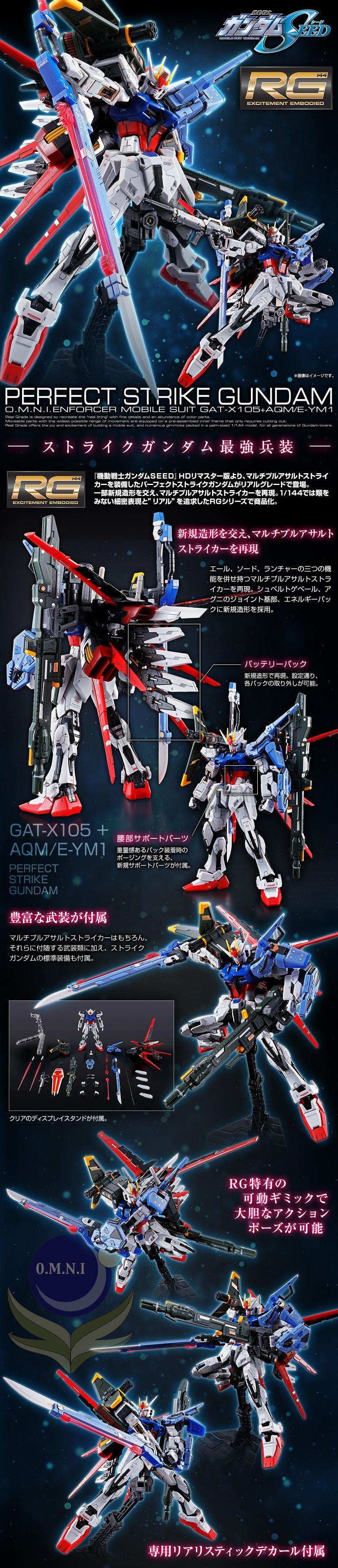 RG Perfect Strike Gundam Details
