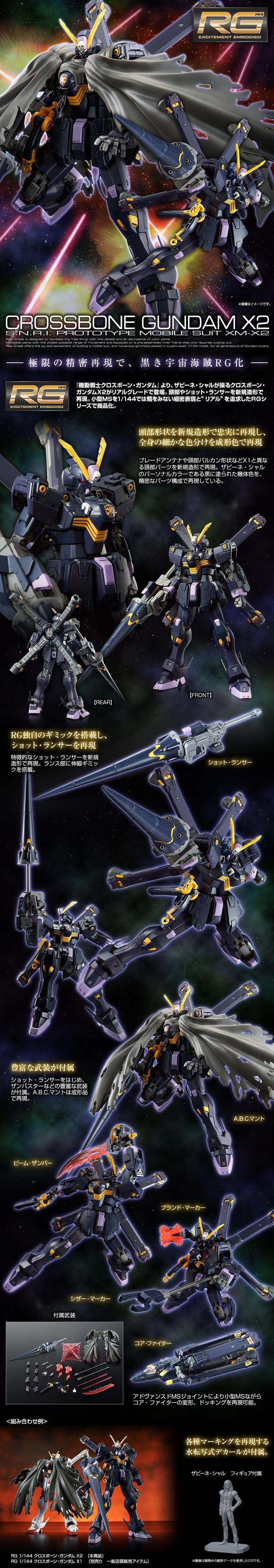 RG Crossbone X2 Details